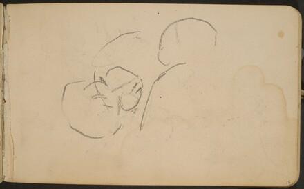 begonnene Skizze, wohl zweier Köpfe (Initial Sketch) [p. 15]