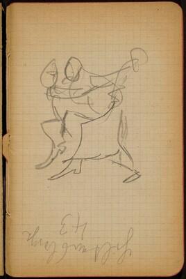 Tanzendes Paar, Notizen (Dancers, Notation) [p. 17]