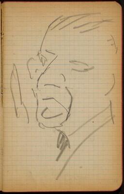 Männliche Bildnisstudie (Male Portrait) [p. 23]