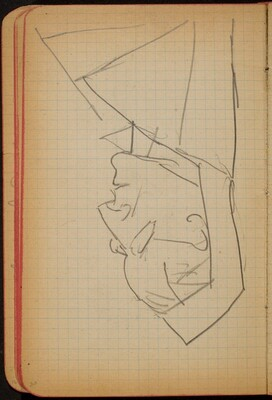 Weibliche Bildnisstudie im Profil (Female Portrait Study, Profile) [p. 30]
