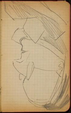 Weibliche Bildnisstudie im Profil (Female Portrait Study, Profile) [p. 33]
