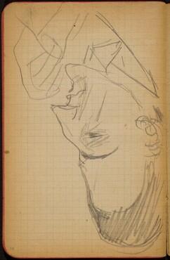 Männliche Bildnisstudie im Profil (Male Portrait Study) [p. 70]