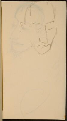 Männliche Bildnisstudie (Male Portrait Study) [p. 19]