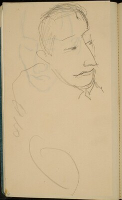 Männliche Bildnisstudie (Male Portrait Study) [p. 20]