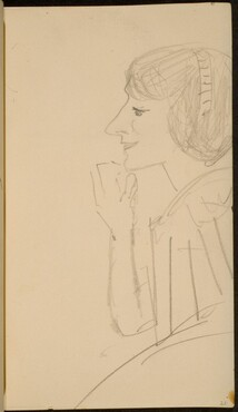 Frau im Profil (Woman in Profile) [p. 21]