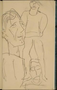 Zwei Figuren und ein Gesicht  (Two Figures and a Face) [p. 47]