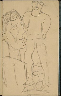 Zwei Figuren und ein Gesicht  (Two Figures and a Face) [p. 47]