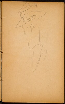begonnene Figurenskizze (Initial Sketch of a Figure) [p. 21]