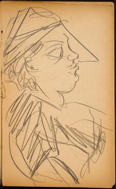 Männliche Bildnisstudie (Male Profile) [p. 43]