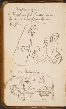 Zwei Skizzen und Notizen (Two Sketches with Notations) [p. 17]