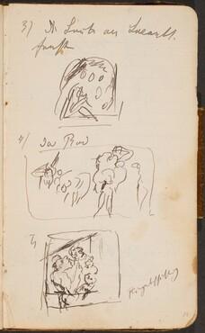 Drei Skizzen und Notizen (Three Sketches with Notations) [p. 18]