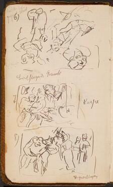 Drei Skizzen und Notizen (Three Sketches with Notations) [p. 19]