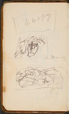 Zwei Skizzen und Notizen (Two Sketches with Notations) [p. 21]