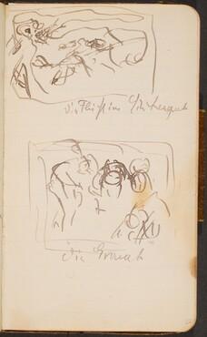 Zwei Skizzen und Notizen (Two Sketches with Notations) [p. 22]