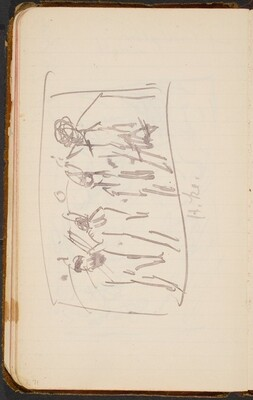 Skizze mit vier Figuren (Titled Sketch with Four Figures) [p. 71]