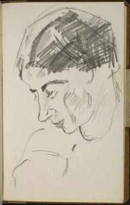 Weibliche Bildnisstudie (Female Portrait Study) [p. 3]