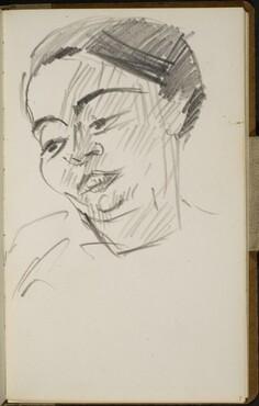 Weibliche Bildnisstudie (Female Portrait Study) [p. 7]