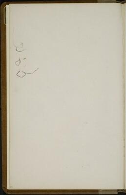 Begonnene Skizze (Sketch) [p. 20]