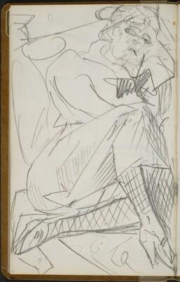 Liegende Frau mit Netzstrümpfen (Reclining Woman with Fishnet Stockings) [p. 40]
