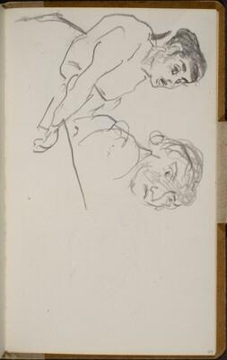 Zwei Frauen, die linke singend,(Two Women, the Left One Singing) [p. 49]