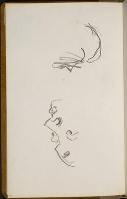 Zwei begonnene Studien von Gesichtern (Sketches of Faces) [p. 50]