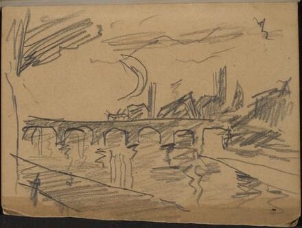 Flußlandschaft mit Brücke (Bridge over a River) [p. 1]