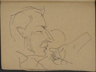 Zwei Männer, der vordere im Profil (Two Men, one in Profile) [p. 19]