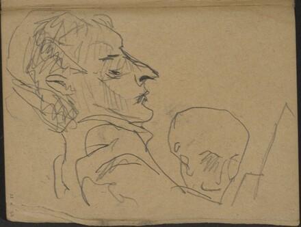 Zwei Männer, der vordere im Profil (Two Men, one in Profile) [p. 21]
