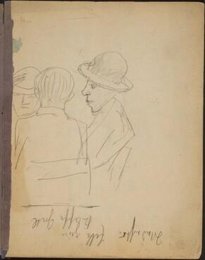 Zwei Damen und ein Herr zu Tisch (Two Women and a Gentleman at a Table) [p. 1]
