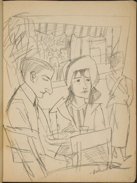 Paar am Caféhaustisch (Couple at a Table) [p. 3]