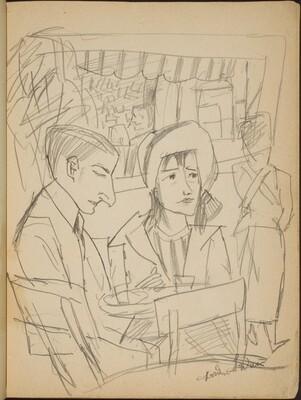 Paar am Caféhaustisch (Couple at a Table) [p. 3]