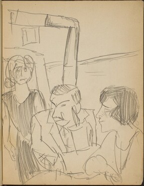 Paar und Bedienung in Gasthausstube (Couple and Waitress in a Restaurant) [p. 5]