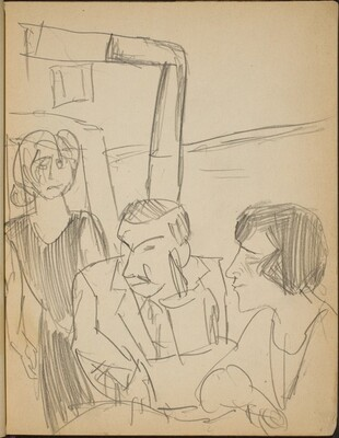 Paar und Bedienung in Gasthausstube (Couple and Waitress in a Restaurant) [p. 5]
