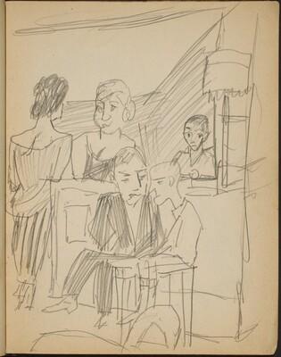 Menschen in einer Bar (Figures in a Bar) [p. 7]