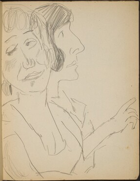 Zwei weibliche Bildnisstudien (Study of Two Ladies in Profile) [p. 17]
