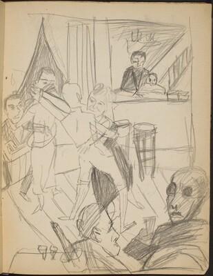 Szene in Tanzbar (Dancing in a Bar) [p. 19]