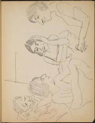 Fünf Frauen an einem Tisch (Five Ladies at a Table) [p. 21]