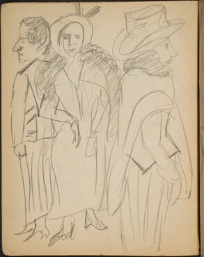 Kleiderstudien - Drei Frauen in Straßenkleidung (Studies of Dresses - Three Ladies Dressed Up) [p. 24]