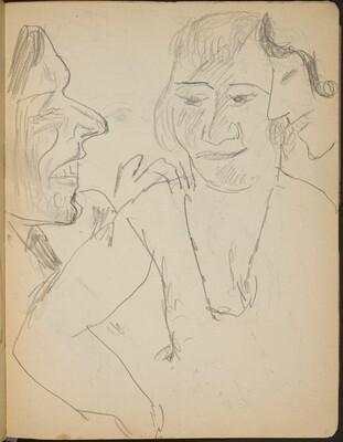 Mann im Gespräch mit zwei Frauen (Conversation of a Man with Two Ladies) [p. 25]