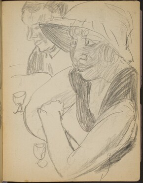 Frau und Mann an einer Bar (Two at a Bar) [p. 27]