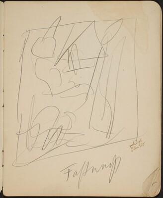 Kompositionsskizze (Sketch with Inscription) [p. 5]