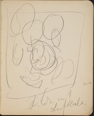 Kompositionsskizze mit Bezeichnung (Sketch with Inscription) [p. 13]