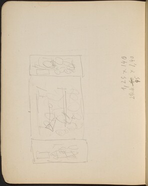 Kompositionsskizze mit Bezeichnung (Sketch for Triptych) [p. 18]