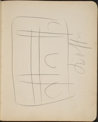 Kompositionsskizze mit Bezeichnung (Sketch with Inscription) [p. 19]