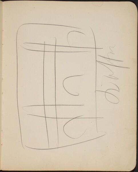 Kompositionsskizze mit Bezeichnung (Sketch with Inscription) [p. 19]
