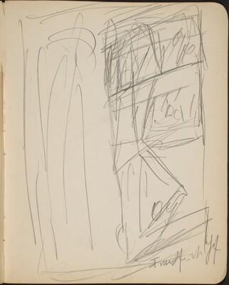 Kompositionsskizze mit Bezeichnung (Sketch with Inscription) [p. 23]