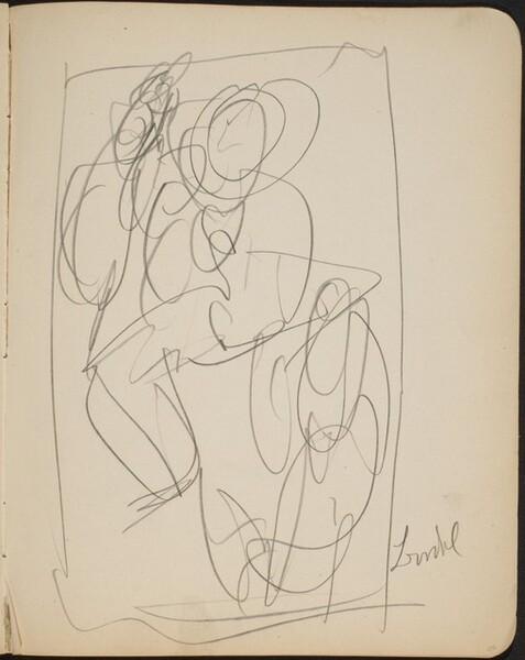 Kompositionsskizze mit Bezeichnung (Sketch with Inscription) [p. 25]