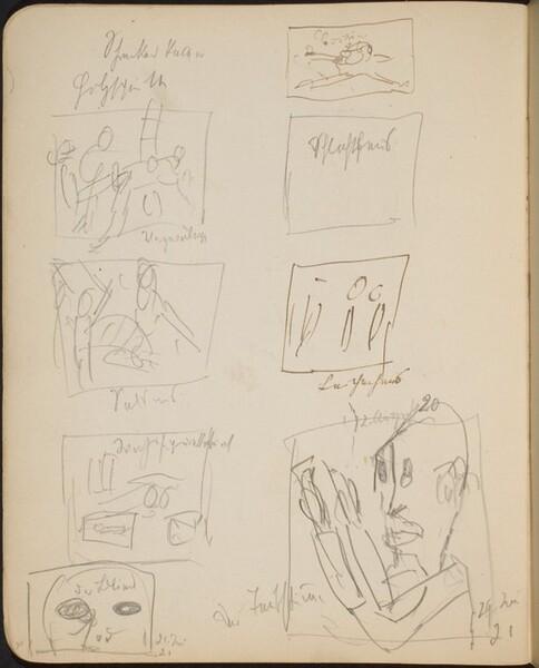 Acht bezeichnete Skizzen (Eight Sketches with Inscriptions) [p. 30]