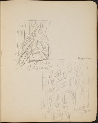 Zwei bezeichnete Skizzen (Two Sketches with Inscriptions) [p. 31]