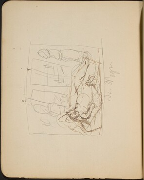 Liegender weiblicher Akt, Bezeichnung (Reclining Nude, Inscription) [p. 34]